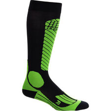2016 NIB WOMENS CEP SKIING COMPRESSION RACE SOCKS $60 size 3 black lime green