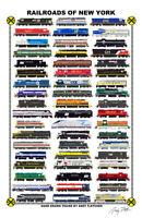 """Railroads of New York 11""""x17"""" Railroad Poster by Andy Fletcher signed"""