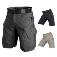 S-3XL Men's Tactical Military Cargo Shorts Waterproof Hiking Outdoor Short Pants