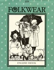 Folkwear 221 English Smock in 2 Lengths Sewing Pattern for Men, Women & Children