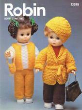 Vintage Knitting Pattern DOLL 8 Ply DK Copy Doll Height 36 cms