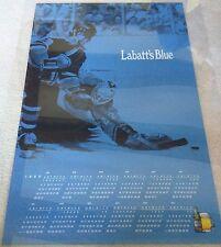 Labatt'S Blue Canadian Beer / 1989 Canadian Hockey Calendar Poster Man Cave Mint