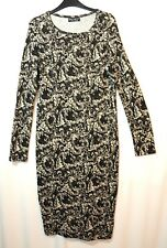 BLACK IVORY LADIES CASUAL STRETCH BODYCON JUMPER DRESS SIZE 12 SELECT