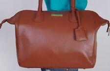 JOY & IMAN Extra Large Brown Leather Shoulder Hobo Tote Satchel Purse Bag
