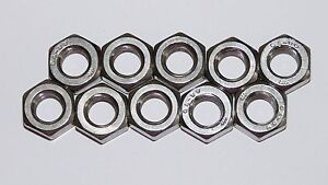 M8 Full Nuts / Plain Nuts / Hex Nuts x 10 - A2 Stainless Steel
