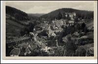 Stolberg Harz Sachsen-Anhalt DDR AK 1953 Panorama mit Wald und Schloß gelaufen