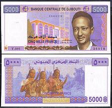 DJIBOUTI  - BILLETE DE 5000 FRANCOS AÑO 2002 Pick 43  SC  UNC