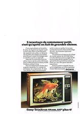 PUBLICITE  1974   SONY TRINITON   44 cms  téléviseur couleur