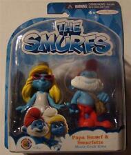 Smurfs smurfette and papa smurf figure 2 pack movie new