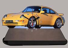 MODEL CARS,PORSCHE 911 CARRERA RS-03, car passenger,11,8x 7,8 inches  with Clock