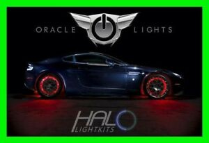 RED LED Wheel Lights Rim lights Rings by ORACLE (Set of 4) for LINCOLN MODELS