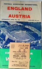 More details for england v italy match programme + ticket wembley wednesday may 6th 1959