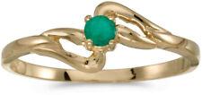 14k Yellow Gold Round Emerald Ring (CM-RM1039X-05)