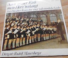 Tras RDA color verde mi corazón exige + dresdner Kreuzchor + lp vinilo eterna