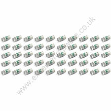 50 x Green 12v 10mm T10 Wedge Base LED Bulbs for Arcade Push Buttons - MAME