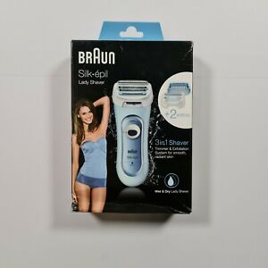 Braun Silk-épil Wet & Dry Electric Lady Shaver - Baby Blue, Model LS5160