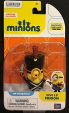 "Minions Vive Le Minion Poseable 2"" Figure New Thinkway Toys"