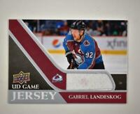 2020-21 UD Series 1 Game Jersey Relic #GJ-GL Gabriel Landeskog  - Colorado Avala