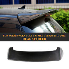 Black Carbon Fiber Rear Roof  Spoiler Top Wings Fit for VW GOLF 6 MK6 VI GTI R20