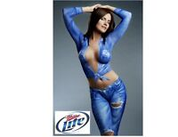 Miller Lite Beer Body Paint Girl Blue Refrigerator / Tool Box  Magnet Man Cave