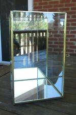 Vtg Glass, Brass AND MIRRORED Table Top Display Cabinet