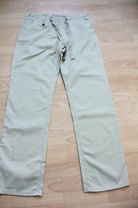 BODEN  stone cotton light weight summer trousers size 10R  NEW
