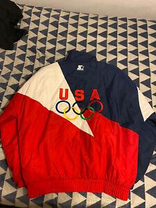 Men's Vintage USA Olympic Starter Jacket Size XL