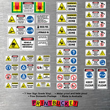 Backhoe risk assessment tonne safety stickers full kit 39 piece site apporved