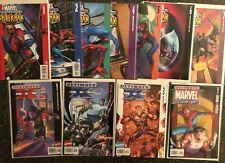 MARVEL ULTIMATE SPIDER-MAN #1-7 + X-Men 1-3 LOT Bendis/Bagley WOLVERINE TEAM-UP