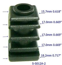 "Oajen S-S012A caster socket insert for socket stem, use with 3/4"" OD tube, 18g"