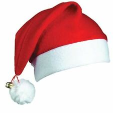 Novelty Santa Hats with Bell Father Christmas Costume Accessories Party Outfit