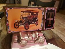 Vintage Avon Model T Touring Car Deep Woods After Shave Glass Bottle Full in Box