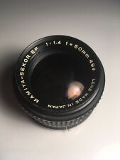 Auto Mamiya-Sekor EF 50mm f / 1.4 Lens Mamiya e mount. Tested And Working!