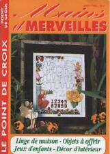 Magazine Mains et Merveilles Point de Croix 7 1998 LINGE DE MAISON Voir Sommaire