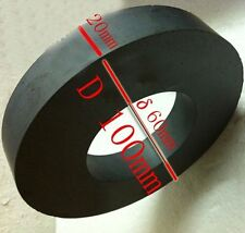 1PCS Strong Black Dics Ferrite Y30 C8 Ceramic Ring Round Magnet D100 x 60 x 20mm