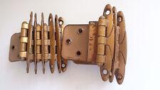 12 Vintage Bronzed Steel Cabinet Door Hinges