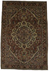 Hand Knotted Wool Floral Design 7X11 Vintage Area Rug Oriental Farmhouse Carpet
