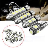 14Pcs/Set White  Interior LED Light Kit  Universal Car License Trunk Lamp BA