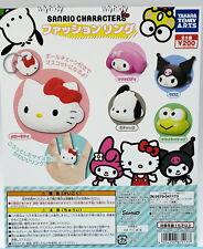 Sanrio Hello Kitty Melody Kuromi Pochacco Keroppi Finger Ring  5pcs -Takara Tomy