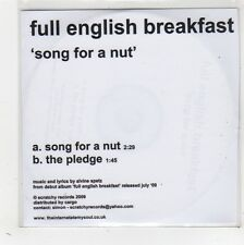 (FW534) Full English Breakfast, Song For A Nut - 2009 DJ CD