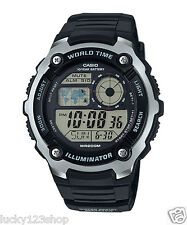 AE-2100W-1A Black Casio Men's Watches Sport Stopwatch Resin Band Brand-New