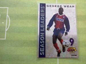 GEORGE WEAH  ROOKIE  FOOTBALL CARD 1994-1995 PARIS SAINT-GERMAIN PSG PANINI