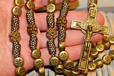 Heavy Bronze Bead w/ Paters Unbreakable Paracord Rosary Necklace DC 455