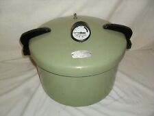 Vintage Sears Pressure Cooker Canner with Rack Model 409 Green
