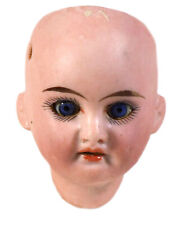 Antique German Bisque Doll Head 1894 Paperweight Eyes And Teeth Armand Marseille