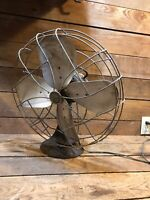 Emerson Fan Antique Vintage Electric Rotating Industrial Cage Cast Iron 79648-ap