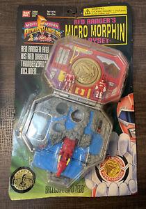 Mighty Morphin Power Rangers Red Rangers Micro Morphin Playset