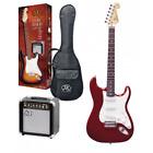SX Kit Chitarra Elettrica 3/4 Rossa completa di Amplificatore Accordatore e Acce for sale