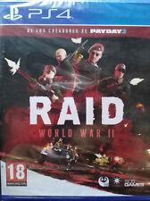 RAID WORLD WAR II (2). JUEGO PARA PS4 / PLAYSTATION 4. PAL. NUEVO, PRECINTADO.