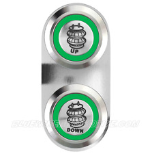 AIR BAG UP & DOWN BILLET SWITCH GREEN HOT ROD HOLDEN CHEV FORD WILLYS F100 MOPA